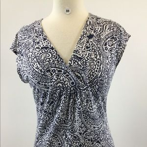 Liz Claiborne Multi V Neck Shirt Size M (B-88)